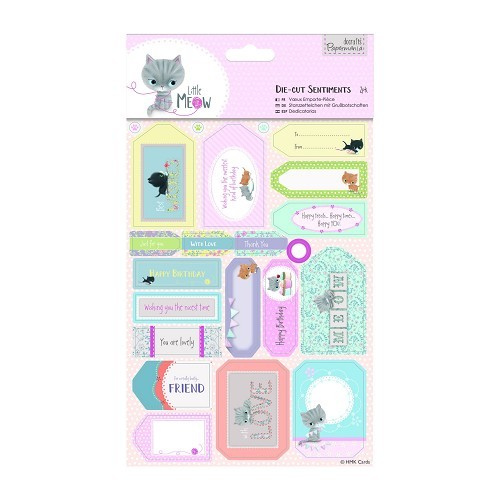Die-cut Sentiments (2pk) - Little Meow