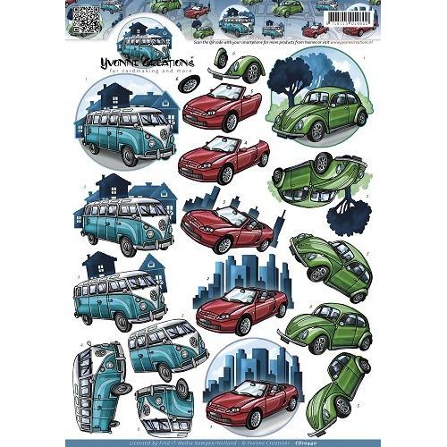 3D Knipvel - Yvonne Creations - Classic cars