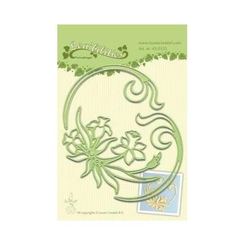 LeCrea - Lea?bilitie Daffodil & swirls snij en embossing mal