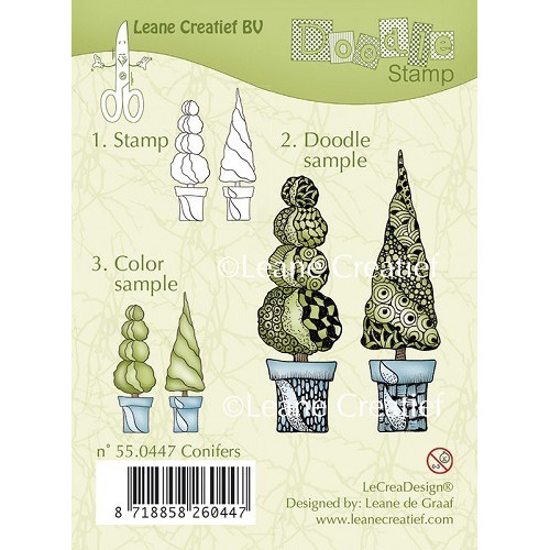 Doodle clear stamp Conifers