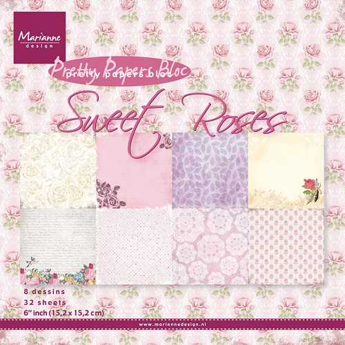 Marianne D Paper pad Sweet Roses PK9123 (New 02-15