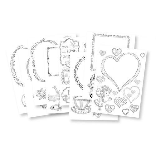 Marianne D Doodle cards Assortiment set EWK1234 (New 02-15)