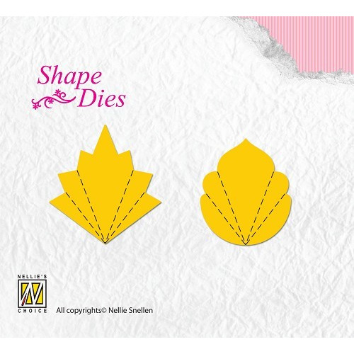 Shape Dies Flower Fan C+D