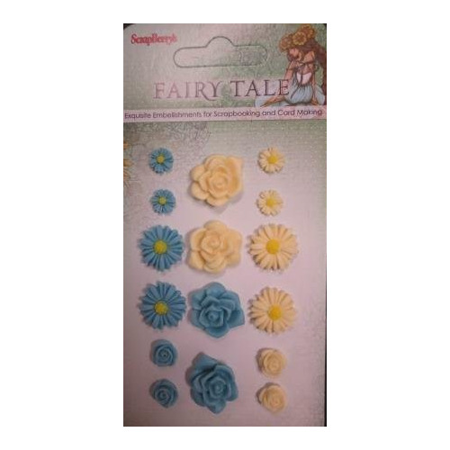 ScrapBerry`s Set Of Flowers, Fairy Tale 1 (Resin) (SCB25002018)