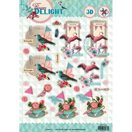 Studio Light Easy 3D Stansvel A4 Flower Delight nr 452
