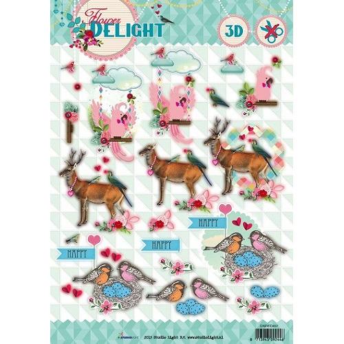 Studio Light Easy 3D Stansvel A4 Flower Delight nr 457
