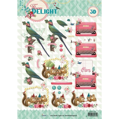 Studio Light Knipvellen  A4 Flower Delight nr 1336