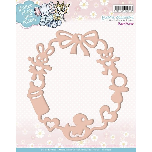Die - Yvonne Creations - Smiles, Hugs and Kisses - Baby Frame