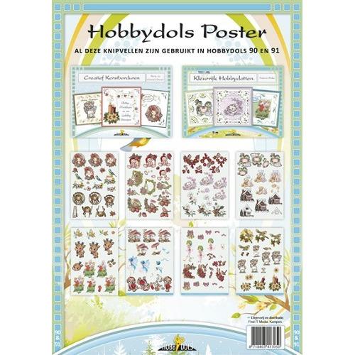 hobbydols knipvel poster - hd090 + hd091