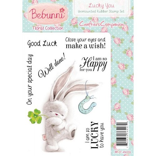Bebunni Floral Stamp - Lucky You
