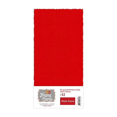 Frame Cards - Photo Frame - Vierkant - Rood