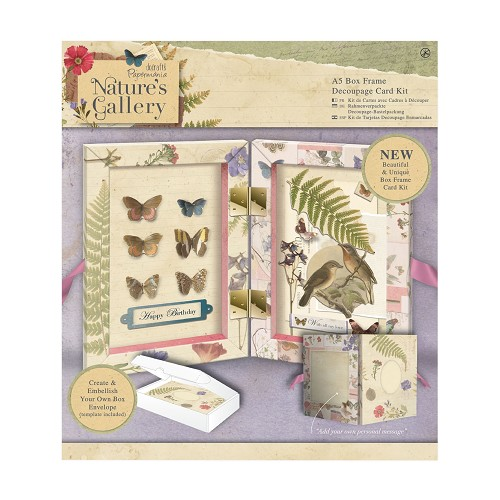 A5 Box Frame Decoupage Card Kit - Nature`s Gallery