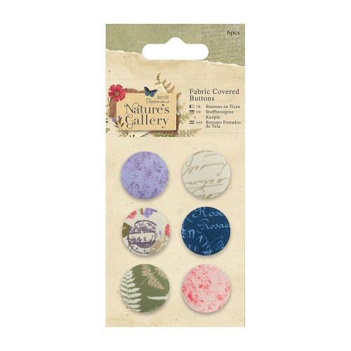 Fabric Covered Buttons (6pcs) - Nature`s Gallery