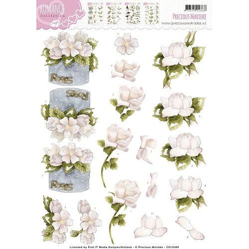 3D Knipvel -  Precious Marieke - Romance - Roses