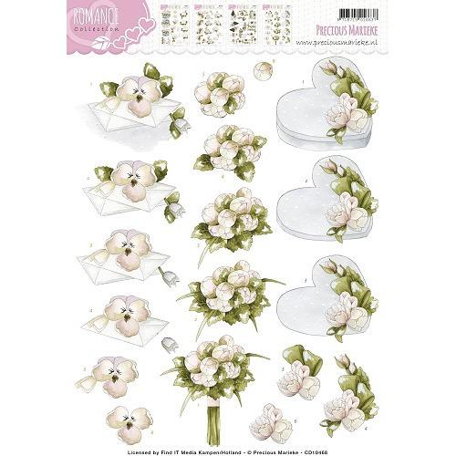3D Knipvel -  Precious Marieke - Romance - Flowery gift