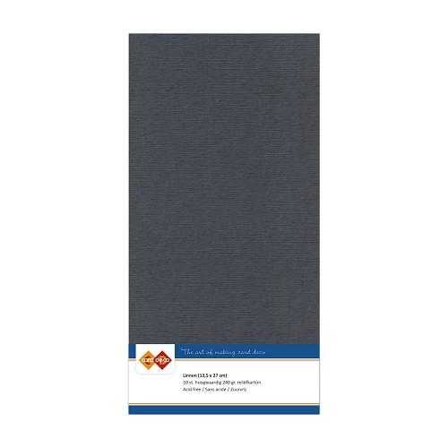 Linnenkarton - Vierkant - Donker grijs