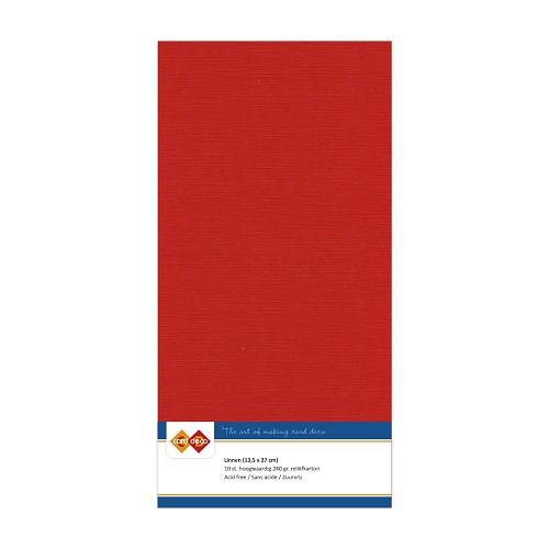 Linnenkarton - Vierkant - Kerst rood