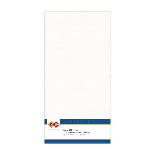 Linnenkarton - Vierkant - Gebroken wit