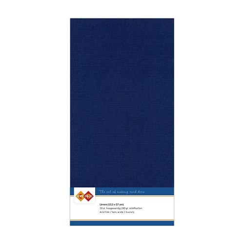 Linnenkarton - Vierkant - Donker blauw