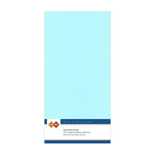 Linnenkarton - Vierkant - Licht blauw