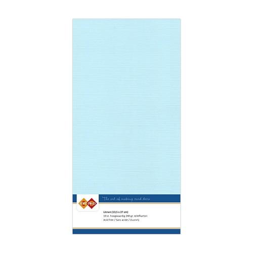 Linnenkarton - Vierkant - Baby blauw