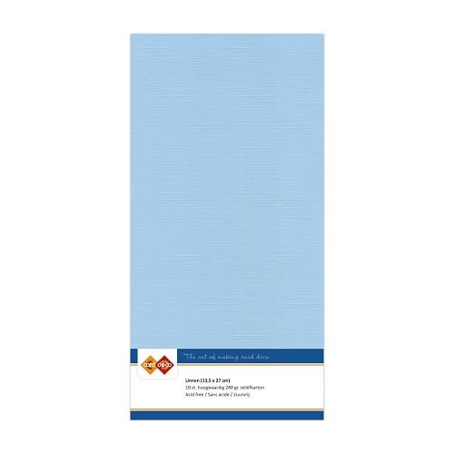Linnenkarton - Vierkant - Zacht blauw