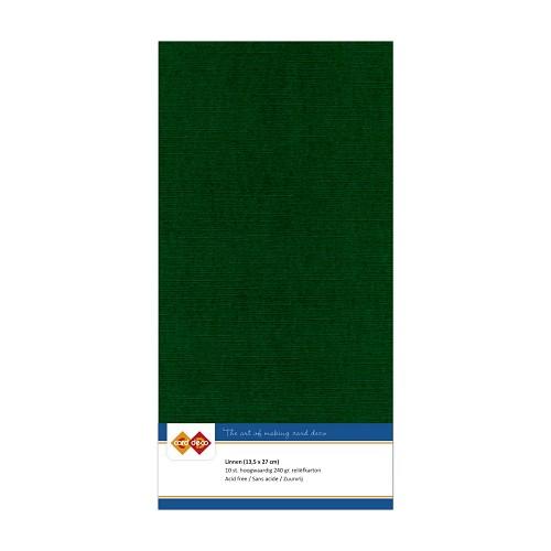 Linnenkarton - Vierkant - Kerst groen