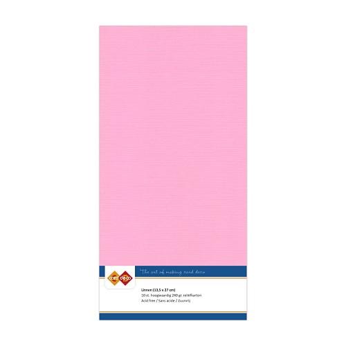Linnenkarton - Vierkant - Roze