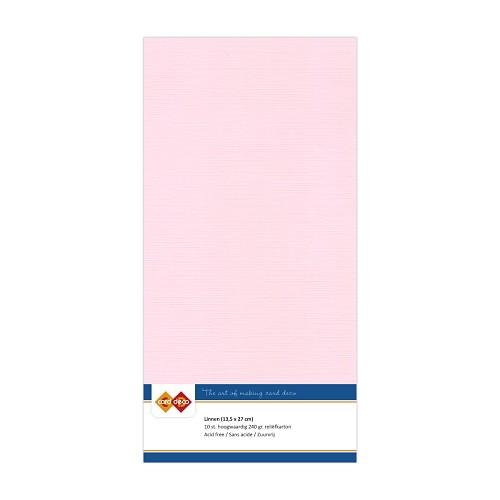 Linnenkarton - Vierkant - Licht roze