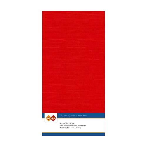 Linnenkarton - Vierkant - Rood
