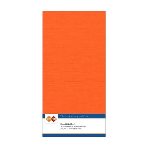 Linnenkarton - Vierkant - Oranje