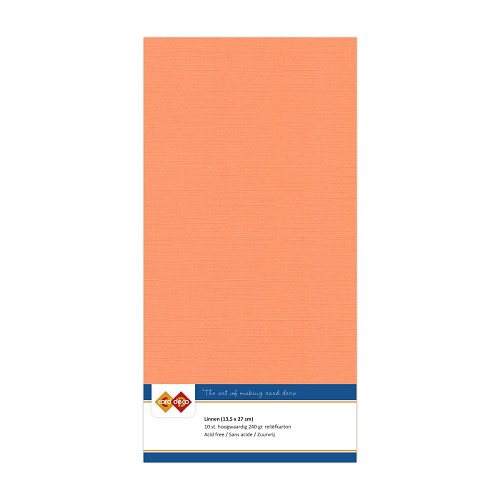 Linnenkarton - Vierkant - Zacht oranje