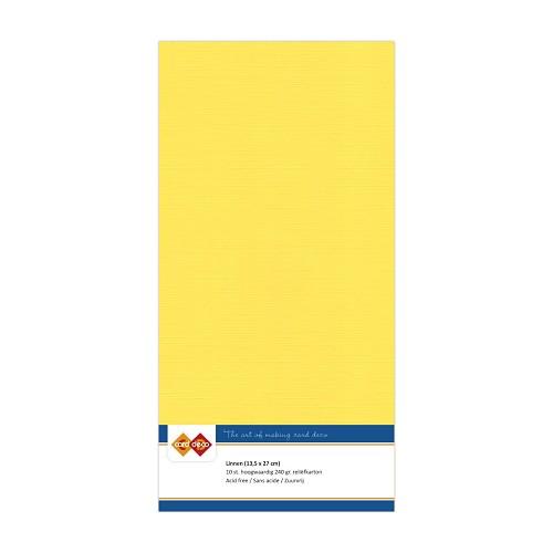 Linnenkarton - Vierkant - Kanarie geel