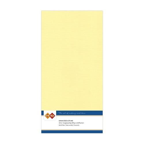 Linnenkarton - Vierkant - Licht geel