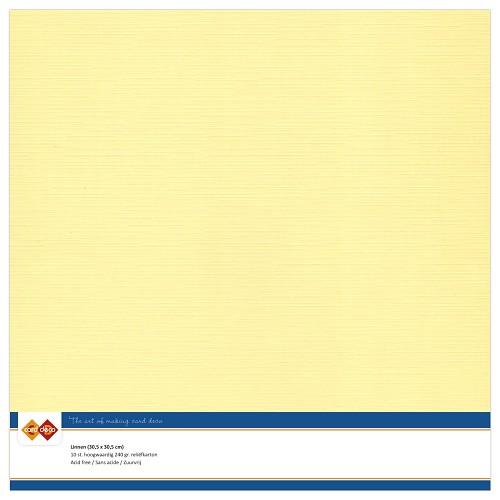 Linnenkarton - 30.5 x 30.5 - Licht geel