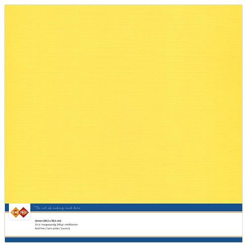 Linnenkarton - 30.5 x 30.5 - Kanarie geel