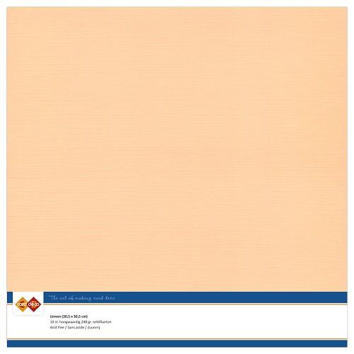 Linnenkarton - 30.5 x 30.5 - Zalm