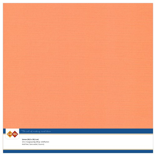 Linnenkarton - 30.5 x 30.5 - Zacht oranje