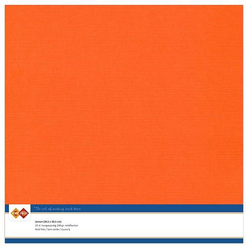 Linnenkarton - 30.5 x 30.5 - Oranje
