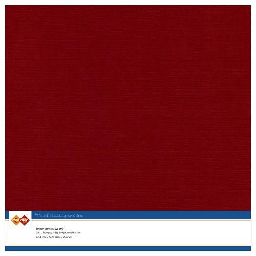 Linnenkarton - 30.5 x 30.5 - Bordeaux