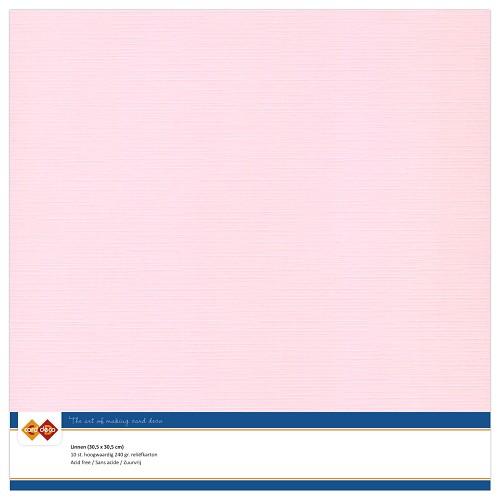 Linnenkarton - 30.5 x 30.5 - Licht roze