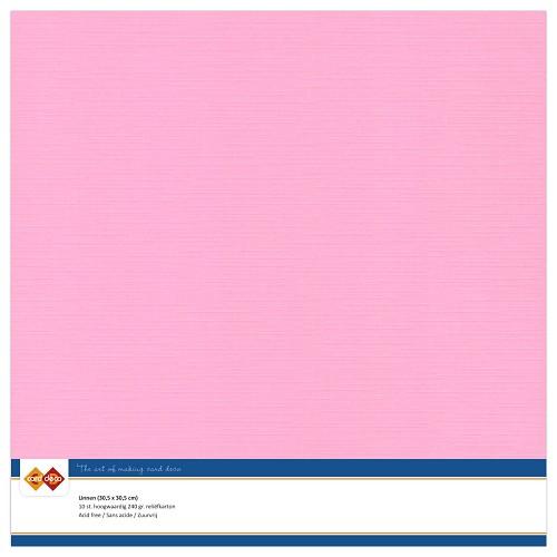 Linnenkarton - 30.5 x 30.5 - Roze