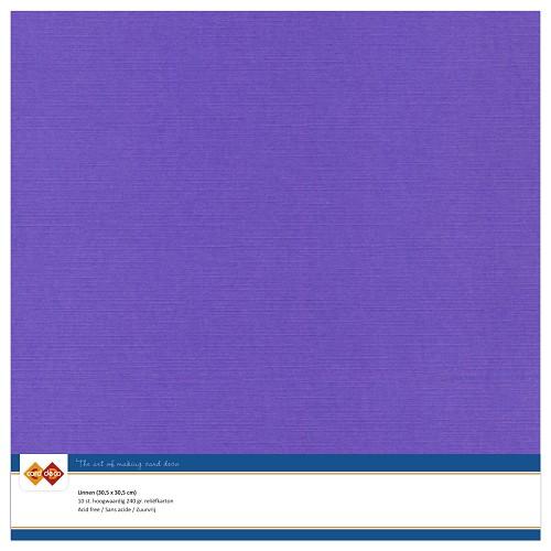 Linnenkarton - 30.5 x 30.5 - Violet