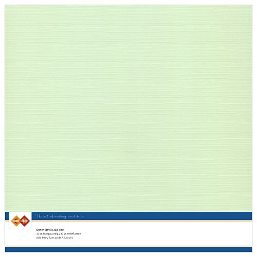 Linnenkarton - 30.5 x 30.5 - Licht groen