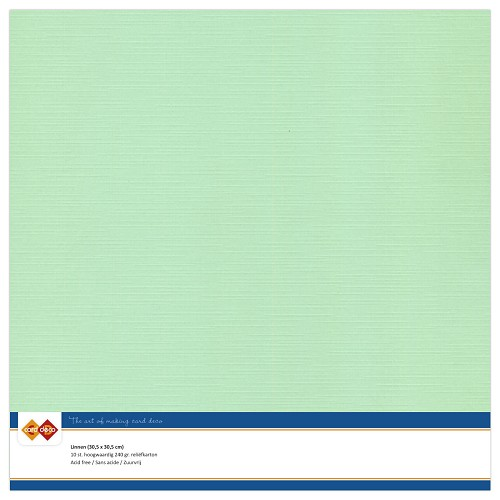 Linnenkarton - 30.5 x 30.5 - Midden groen