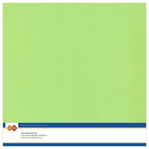 Linnenkarton - 30.5 x 30.5 - Mei groen