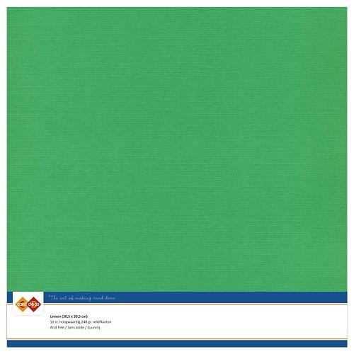 Linnenkarton - 30.5 x 30.5 - Groen