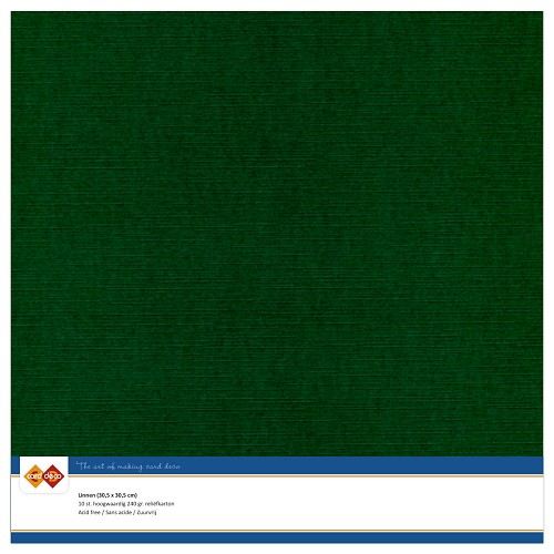 Linnenkarton - 30.5 x 30.5 - Kerst groen