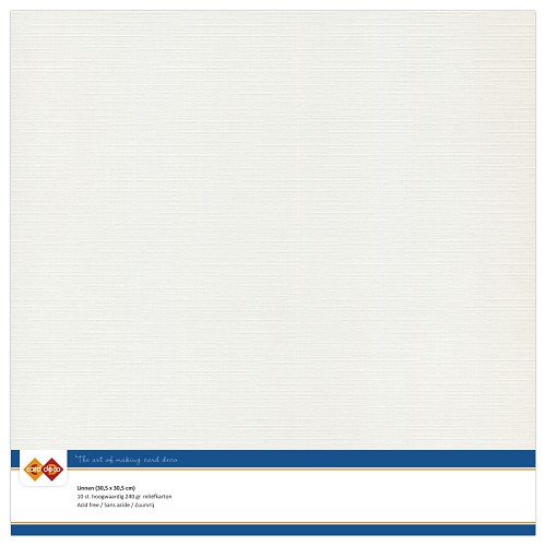 Linnenkarton - 30.5 x 30.5 - Licht grijs
