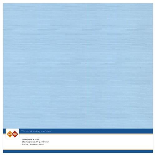 Linnenkarton - 30.5 x 30.5 - Zacht blauw